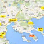 Important archaeological sites and cities near Sithonia